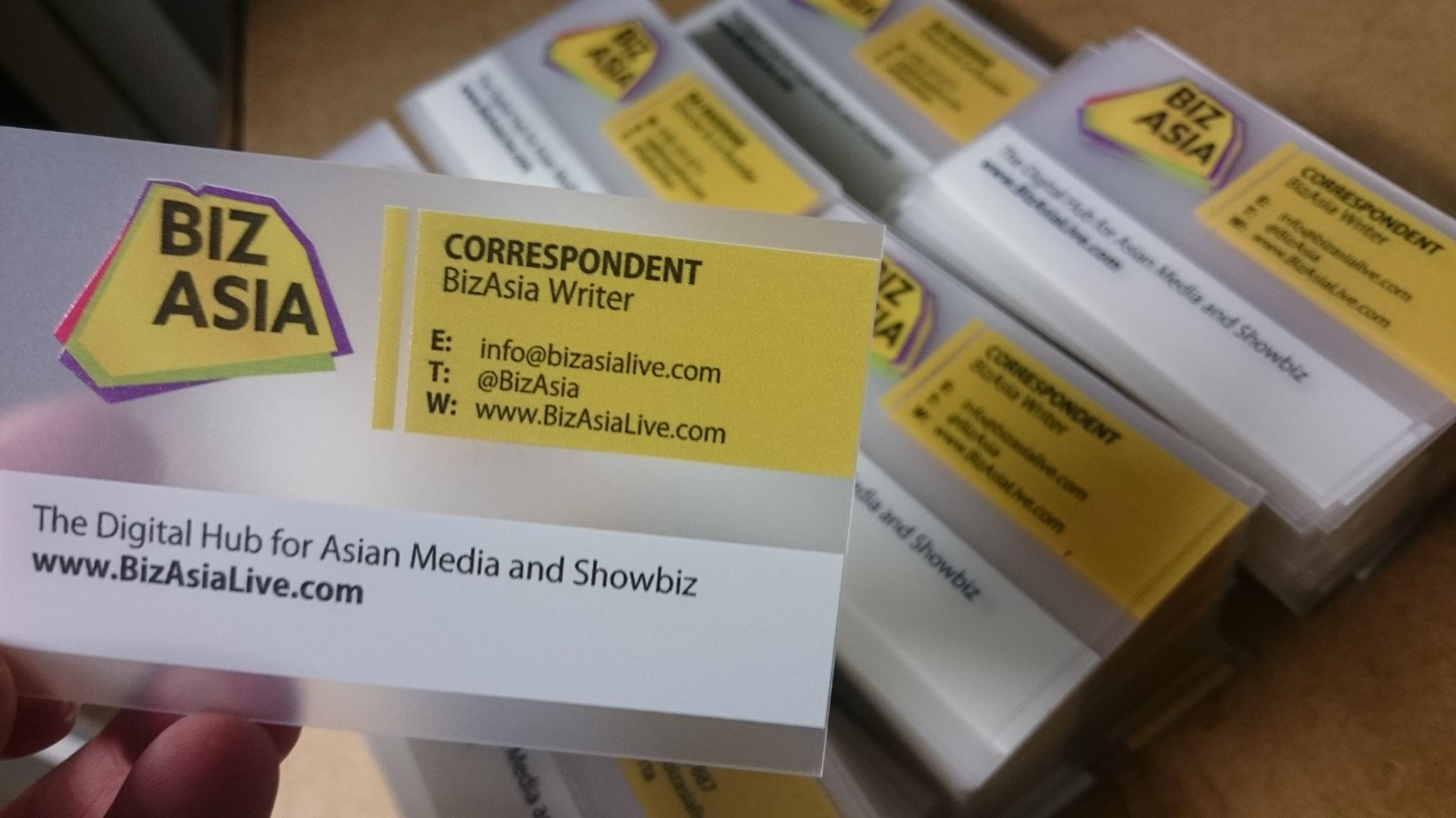 transparent business cards loyality – full colour
